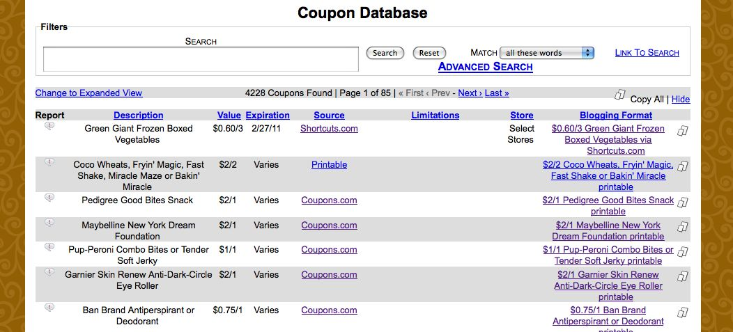 True Couponing Has A New Coupon Database