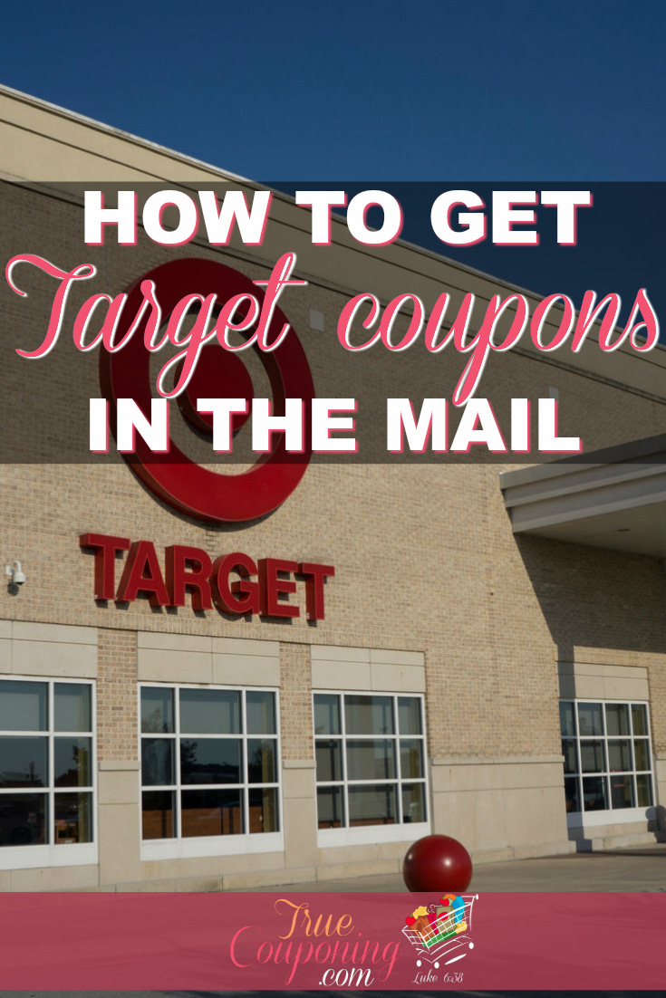 Target coupons can be really hard to receive. Here\'s some ways to get on their list and get those coupons in your mailbox! #truecouponing #couponcommunity #couponing #Target #savings