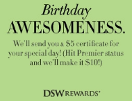 DSW Shoes Birthday