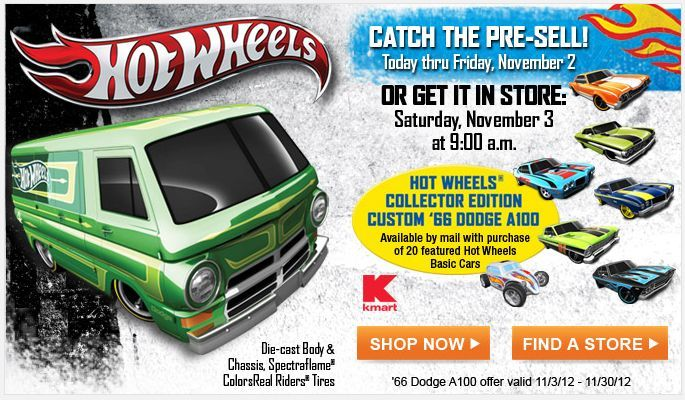 Kmart.com:  Hot Wheels Collectors' Event Online and In Stores!