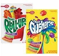 Good Deal Alert: Betty Crocker Fruit Gushers or Roll-Ups $0.50 at Dollar General!