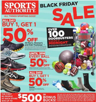 Black Friday Deals: 2012 Sports Authority Black Friday Ad