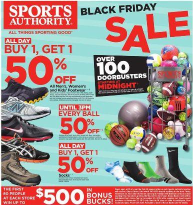 Black Friday Deals: 2012 Sports Authority Black Friday Ad