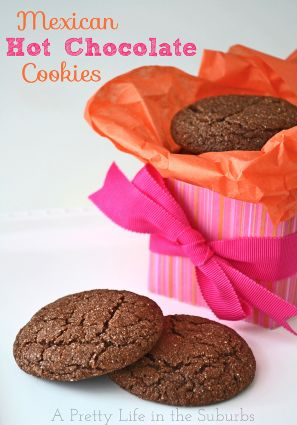 12 Days of Christmas Cookies (Day 3) ~ Mexican Hot Chocolate Cookies