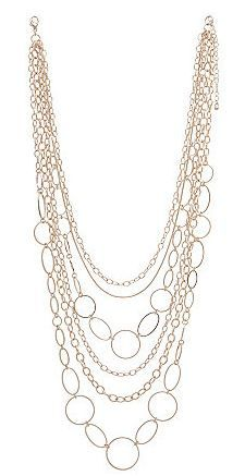Nested Goldtone Chain Necklace