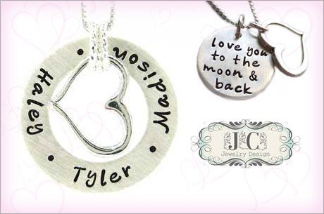 Hand-Stamped Personalized Jewelry from JC Jewelry Design