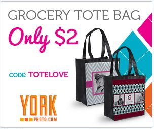 York Photo $2 Grocery Tote – Plus 40 FREE Prints ~ Expires 2/28! (Just Pay Shipping & Handling!)