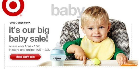 Target: Online BIG Baby Sale & Gift Card Deals ~ Ends 1/26!