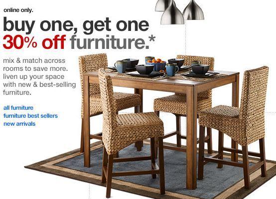 Tar BOGO 30% f Furniture FREE Shipping on Select