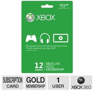 TigerDirect Daily Deal Slasher (2/5/13): Microsoft Xbox Live Gold 12 Month Subscription ONLY $32.99!