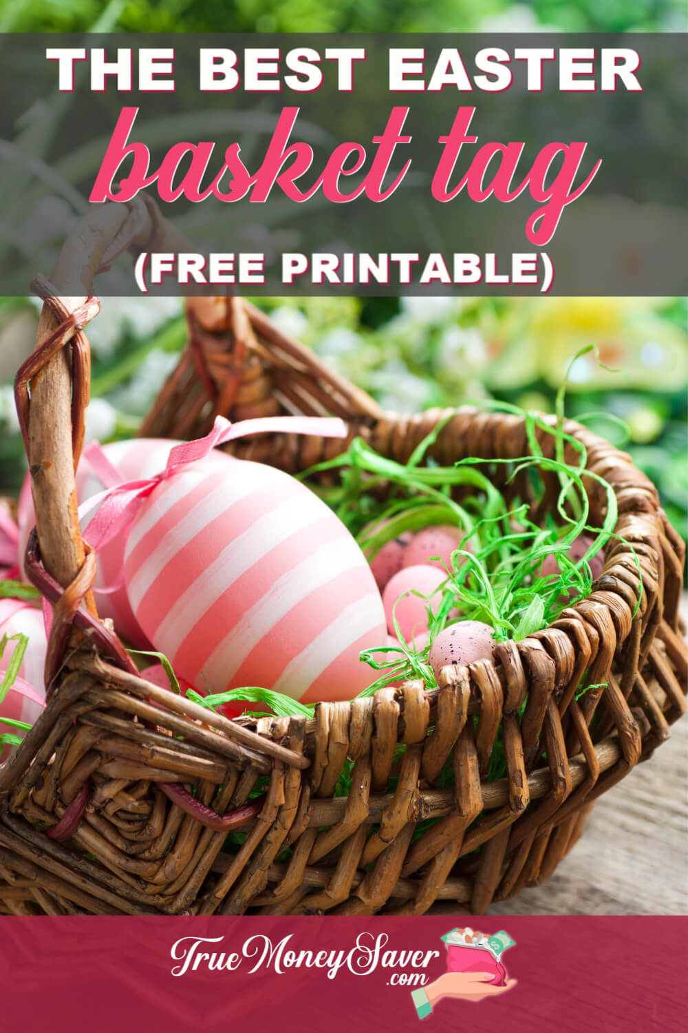 Easter basket tags printable