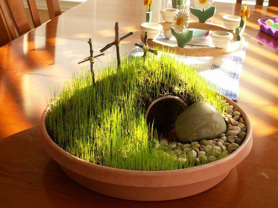 How To Make The Cutest Mini Easter Garden!