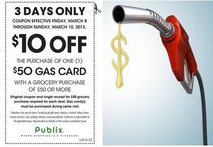 Publix Gas Card Deal