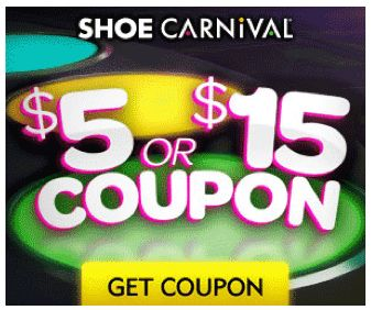 Shoe Carnival $5 or $15 Printable Coupon & Discount Code! ~ Valid 3/20 -3/30/13