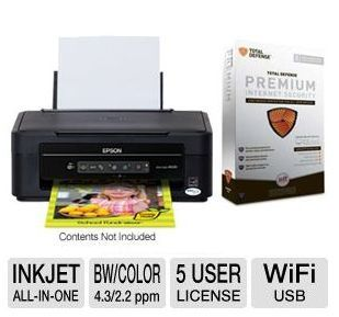 Epson Stylus All-In-One Inkjet Printer PLUS Total Defense Premium Internet Security Bundle ONLY $19.99 after MIR! ~ 4/4/13 ONLY