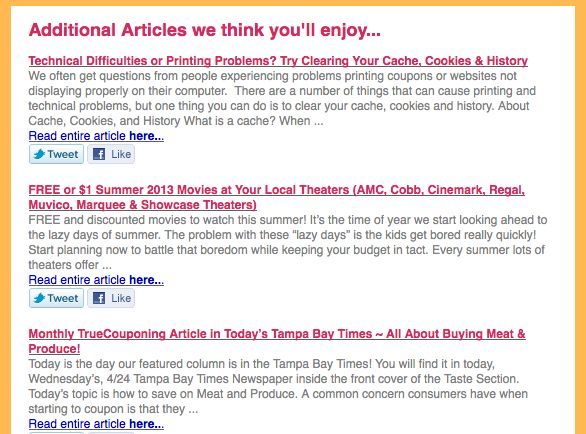 Email Additional Articles