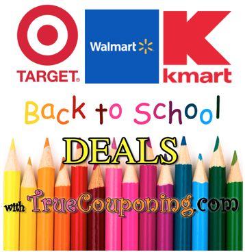 Back To School Supplies List for Target, Walmart, Kmart 7/31 – 8/6