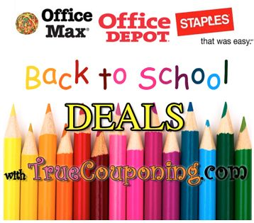 Office Supply Stores Back To School supplies list
