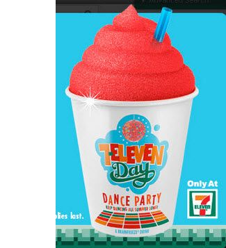 TODAY ONLY: FREE Slurpee From 7-11 from 11am to 7pm!