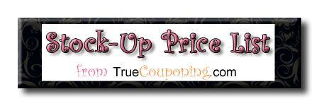 Stock Up Price List