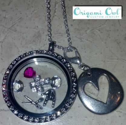 Origami Owl business card sized ad for an event swag bag. Other ... | 414x417