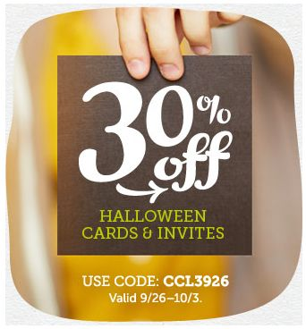 CardStore.com: Get 30% Off Cards and Invites with Discount Code! ~ Ends 10/3