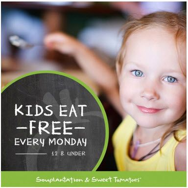 Sweet Tomatoes Kids Eat Free September