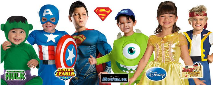 Save on Hulk, Captain America, Monsters Inc., Disney Costumes and More!