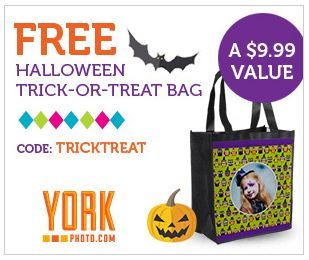 YorkPhoto.com ~ FREE Trick-Or-Treat Bag Just Pay $3.99 Shipping!   Ends 10/31
