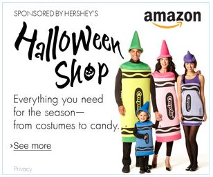 Save Up to 50% Off Costumes and 20% Off Candy at the Amazon Halloween Shop!