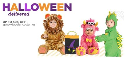 Save Up to 50% on Costumes + Get FREE 2-Day Shipping* at Diapers.com!  Ends 10/31