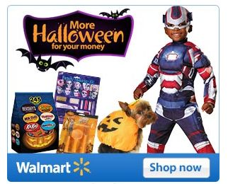 Walmart.com:  Get 97 Cent Shipping on ALL Halloween Costumes!