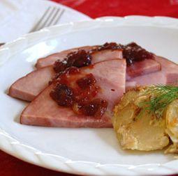 Hormel Cure 81 Boneless Ham with Spiced Cranberry Glaze Recipe