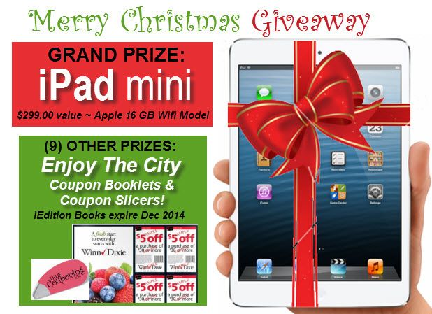 GIVEAWAY ~ Enter to Win An Apple iPAD Mini ($299 Value) {Merry Christmas!}