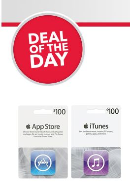 Best Buy Deal of the Day (12/17/13):  $100 iTunes Card for Just $85 + FREE Shipping!!