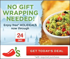 Chili's Holideals Week of 12/16