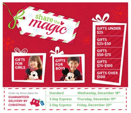 There's Still Time to Shop at The DisneyStore.com and Get Gifts in Time for Christmas!