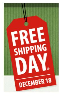 Today is FREE SHIPPING Day at Hundreds of Online Stores ~ Delivery by Christmas Eve!