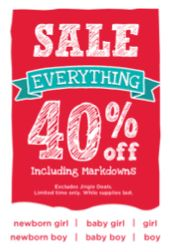 Gymboree Sale: Save 40% Off Everything!  Use Express Shipping to Receive Your Order for Christmas!