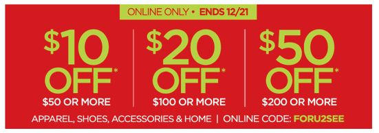 TODAY & SATURDAY ONLY at JCP.com!  Save $10-$20-$50 with Discount Code PLUS $1 Express Shipping with $99 Purchase!