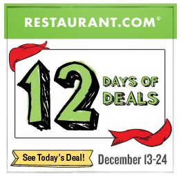 Restaurant.com 12 Days of Deals!  TODAY Get a $10 Certificate for Just $1.60!