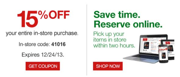 Still Need a Last Minute Gift?  Save 15% with Staples Coupon!  Order Online ~ Pick Up in Store! TODAY ONLY!