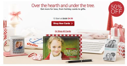 10 Holiday Cards Starting at $4.99 and Gifts 50% Off from Vistaprint!