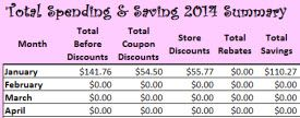 FREE Download: 2014 Spending & Budget Tracker (Track your Shopping Trips!)
