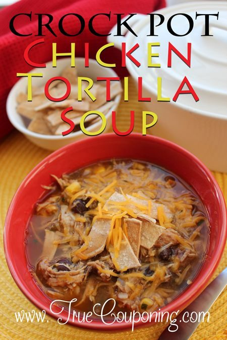 QUICK & DELICIOUS Crock Pot Chicken Tortilla Soup