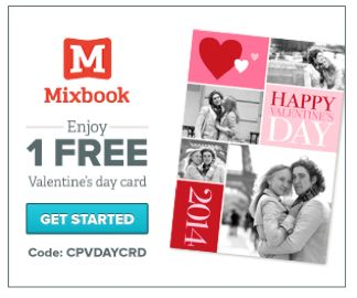 FREE Valentine's Day Card from Mixbook!