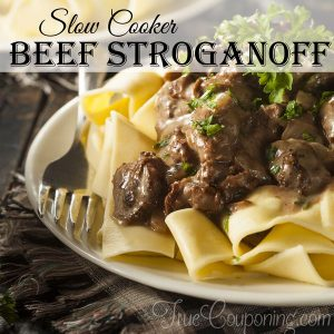 Great for Busy Weeknights! Easy Slow Cooker Beef Stroganoff Recipe