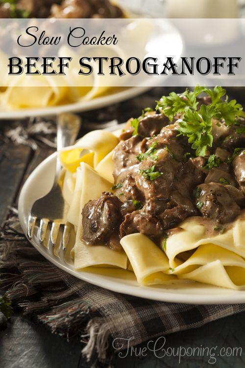 Easy Slow Cooker Beef Stroganoff Recipe