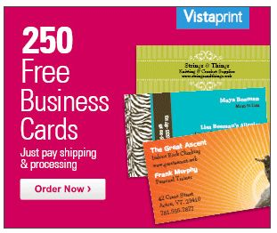 Get 250 FREE Business Cards from Vistaprint.com!  Just Pay Shipping!