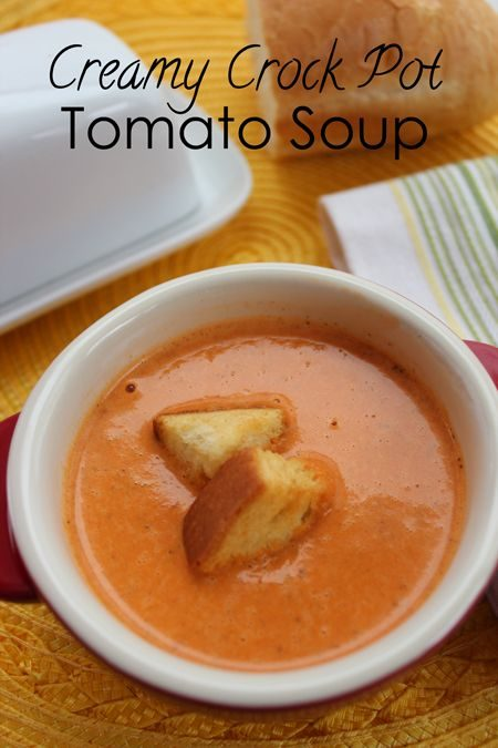 Crock Pot Creamy Tomato Soup Recipe
